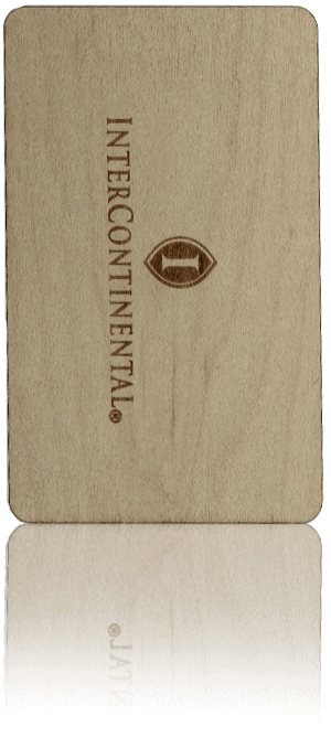 intercontinental wood hotel card
